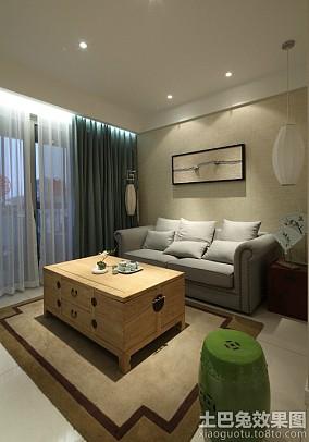 新中式风格一居室装修效果图片欣赏