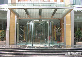 酒店大厦自动旋转门效果图