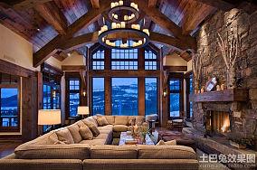家装复古精装修客厅效果图大全