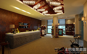 金沙湾高尔夫酒店会所前台设计