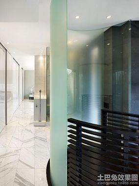 现代日式家庭设计玻璃隔断图片