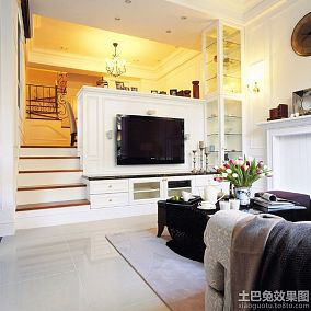 白色美式小别墅装修效果图欣赏