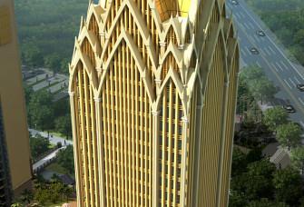 4号楼傣式屋顶外装项目