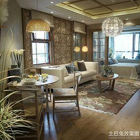 哥特式田园四室两厅家庭装修效果图大全