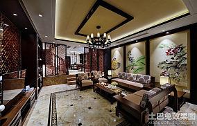 中式风格精装别墅房屋室内设计