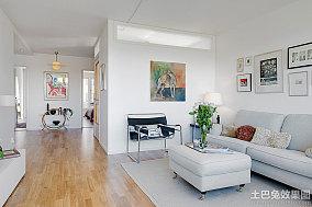北欧风格80平米一居室装修图片
