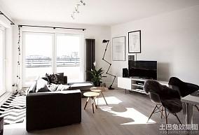 北欧风格65平米一居室装修效果图大全