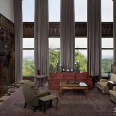 家庭设计室内客厅窗帘效果图大全