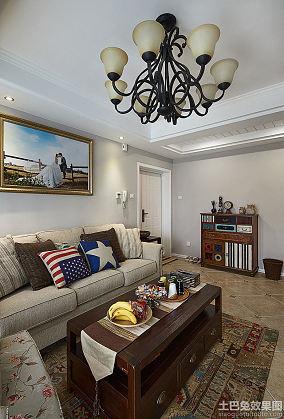 美式田园设计70平米公寓装修效果图大全
