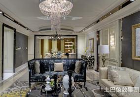 欧式风格四室两厅设计装修效果图大全欣赏