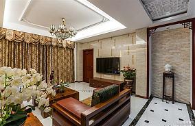 中式风格两室两厅户型家庭装修设计图片