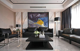 现代风格120平米三室两厅装修效果图大全