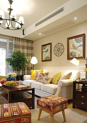 94平米美式两室两厅家居装修效果图大全