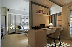 现代风格客厅书房隔断图片