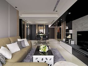 三居室现代简约装修效果