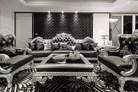 欧式豪华古典装修四居室效果图