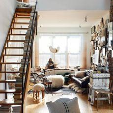 下50平米上33平米复式小型楼梯样子
