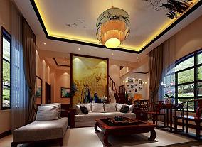 精美四居中式装饰图
