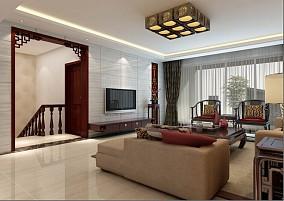 热门114平米中式复式装修欣赏图片