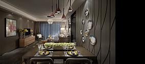 精美面积142平现代四居餐厅装修设计效果图片