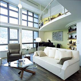 现代潮流复式家居装修效果图
