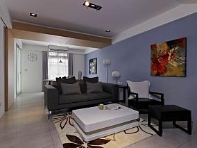 现代家装一居室效果图片欣赏