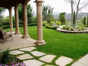 花园石膏罗马柱设计