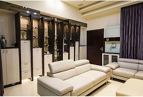 简约两居室室内家装效果图片
