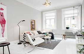 明亮北欧小户型居室装修设计