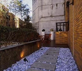 复古简欧室外阳台设计装饰效果图