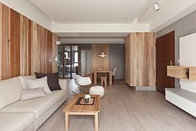原木现代家装二居设计