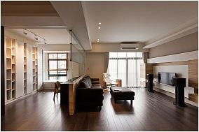 现代简洁原木家装二居设计