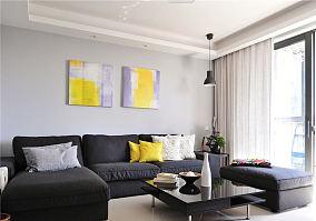 75平简约一居室设计家居效果图