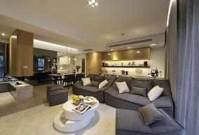 现代时尚120平米四室两厅效果图