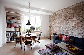清新自然风格一居室效果图