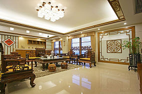 古典中式三居装潢美图