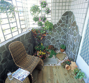 现代家居阳台设计果图片欣赏