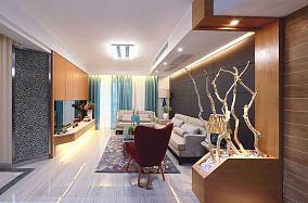 美式装修130平米三室两厅效果图