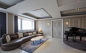 美式简约三居室内装修图片