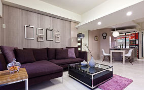 现代两居室简装设计效果图