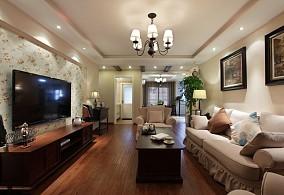 现代美式110平米三室两厅效果图