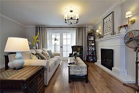 80平美式两居室设计装修效果图