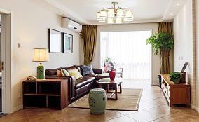 中式现代三居室设计装修效果图