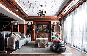 美式设计装修四居室效果图