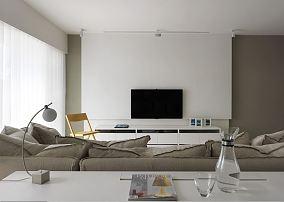 白色简约装修风格二居设计