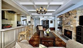 复古美式复式家装设计效果图