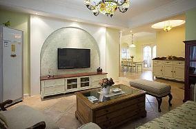 88平米田园风格两居室装修效果图