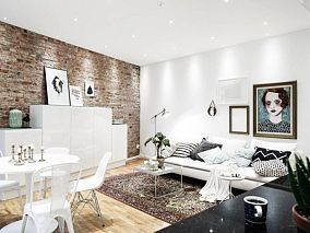 简约设计loft公寓装修效果图