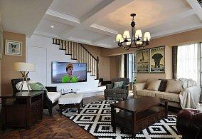 悠闲美式复式家居设计欣赏