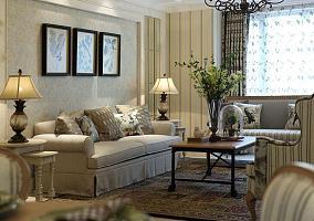 简约美式风格两居室设计装修图片